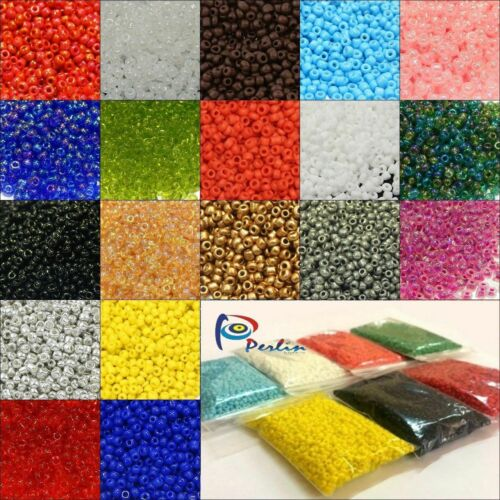 1kg Rocailles 2//3//4 mm abalorios mixfarben set joyas bricolaje Seed Beads