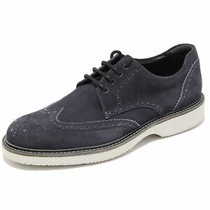Image is loading 0719L-scarpe-uomo-blu-HOGAN-route-derby-scarpe- 55dffa75dcc