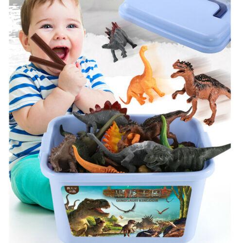 44pcs Large sized Dinosaur Set Playset Animal Action Figures Toys Kids Xmas Gift