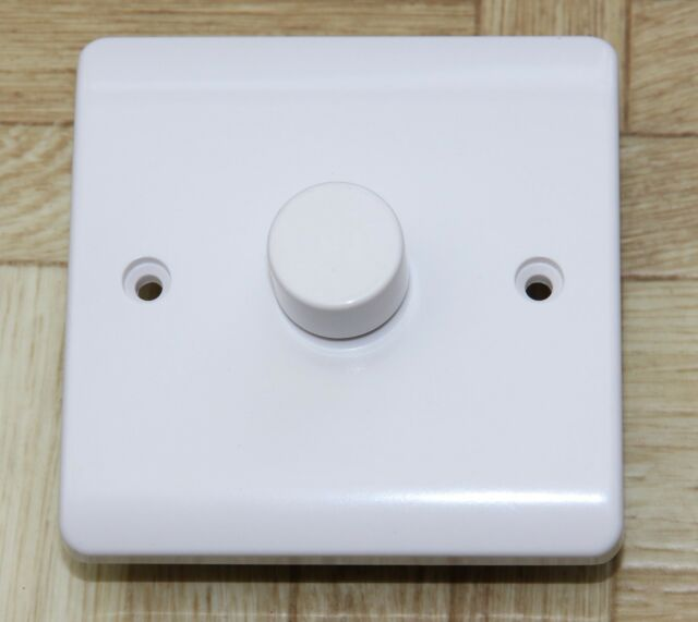 Trailing Edge Led Dimmer Switch White 1 Gang 2 Way Push On Off Soft