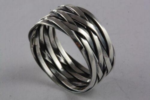 Band Ring Celtic Celtics Braided Biker 925 Silver Silver Ring /315 by Ebay Seller