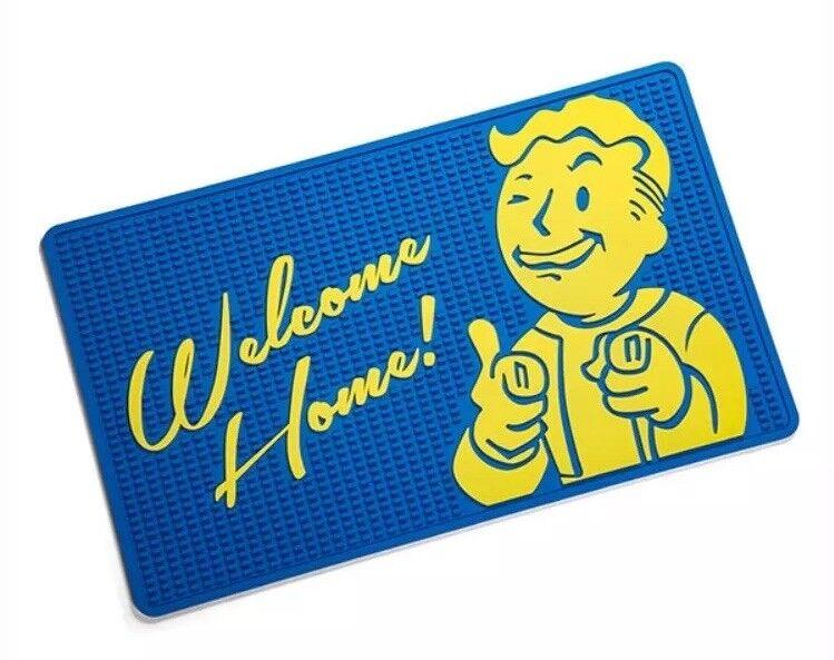 FALLOUT VAULT BOY WELCOME MAT 30 30 30  x 18  Rubber 1 2 3 4 Blau Doorway NEW 2018 8fa8b8