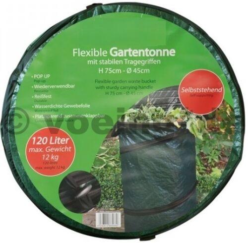 De flexible popup jardin tonne 120 litres sac jardin poubelle déchets