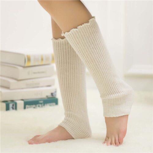 Fashion Women Trim Crochet Leg Knit Sock Slouch Boot High Knee Winter Warm