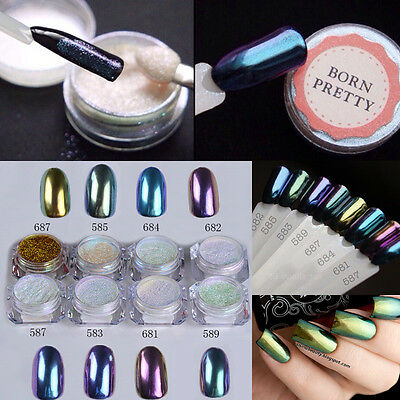 1g/box Shinning Mirror Powder Manicure Nail Art Sequins Chrome Pigment Glitters