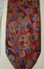 SEVEN FOLD Tie By ROBERT TALBOTT Hand Sewn Silk red