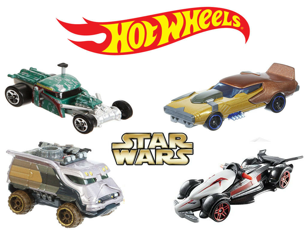 Hot Wheels Star Wars Set of 4 (Boba Fett, Kanan, Garazeb, the Inquisitor) Car