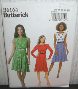 b6555c6d Details about Womens/Misses Easy Pleated Dresses Sewing Pattern/Butterick  B6164/SZ 14-22/UCN