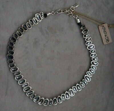"NWT Uno De 50 Grey Elements Crystal THE BEAST Statement Bracelet 7/"" RP $435"