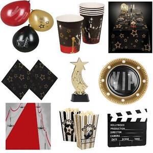 hollywood motto party vip geburtstags dekoration kino premiere teller becher ebay. Black Bedroom Furniture Sets. Home Design Ideas