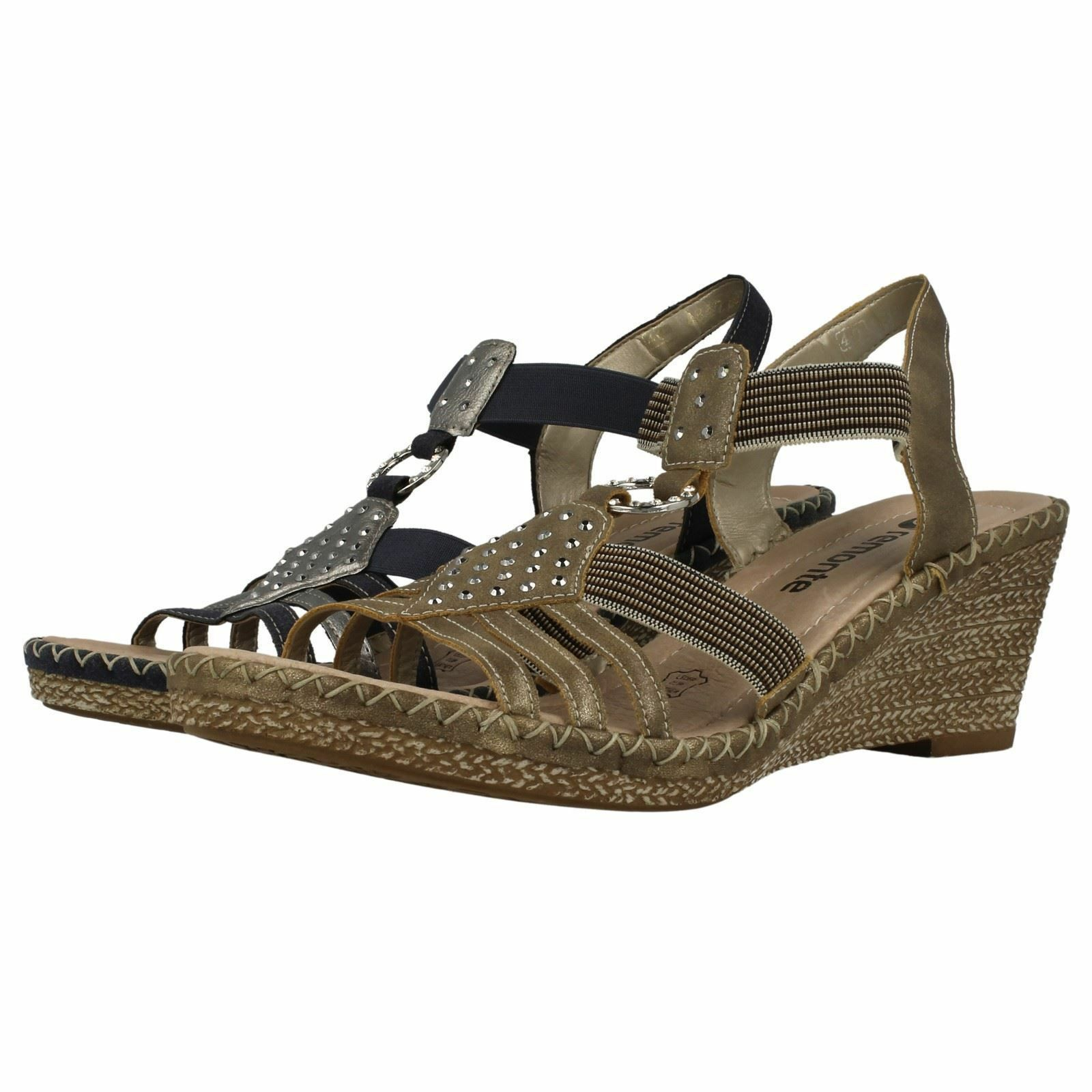 Ladies Remonte D6768 Synthetic Smart Wedge Heel Sandals