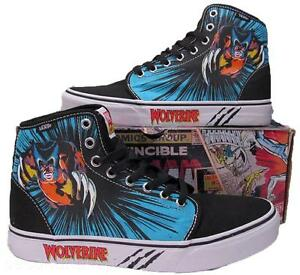 7ce62b3f7ef Vans Wolverine Marvel 106 Hi High Top Skate Sneakers Shoes X-Men ...