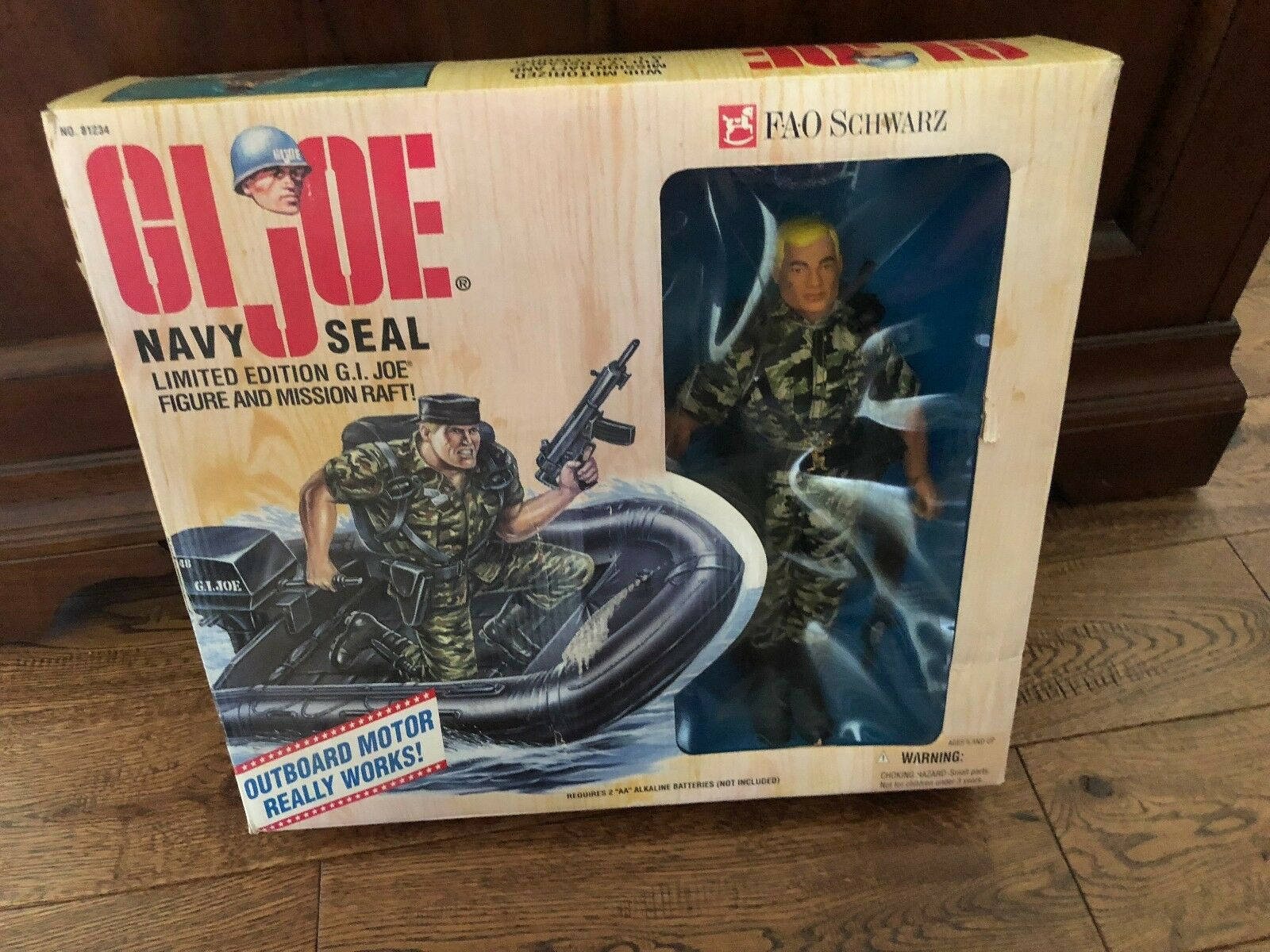 GI Joe FAO black Navy Seal Limited Limited Limited Edition Never Been Out of Box b0e3bd