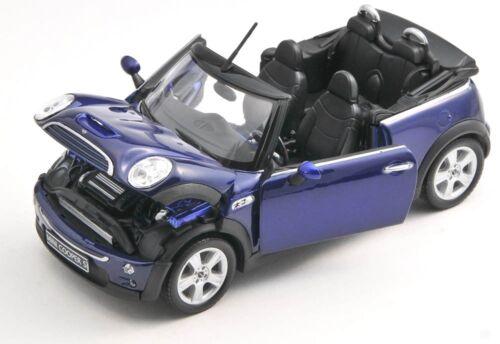 BLITZ VERSAND Mini Cooper S Cabrio dunkelblau Welly Modell Auto 1:24 NEU /& OVP