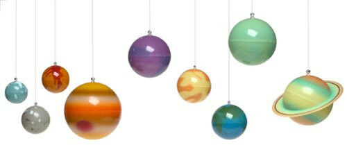 3D GLOWING HANGING SOLAR SYSTEM CHILD ROOM DECOR PLANET UNIVERSE SPACE MOBILE