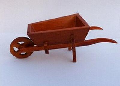 Wooden Wheelbarrow Dolls House Miniature Garden Accessory Tool 1.12th Scale bara