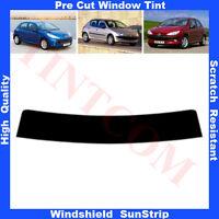 Pre Cut Window Tint Sunstrip for Peugeot 206 5Doors Hatchback 1999-2010 AnyShade
