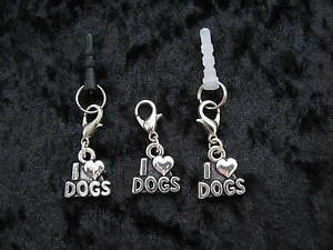 I-LOVE-DOGS-Clip-On-or-Plug-In-Charm-Dust-Cap-for-Mobiles-iPods-Bracelets