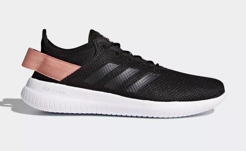 Adidas Adidas Adidas Cloudfoam QT Flex Women's Size 9.5 Casual Shoe Black/Pink AQ1622 8f09ea
