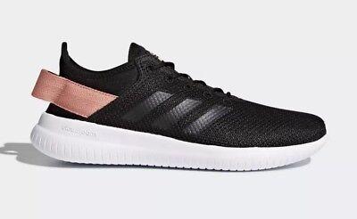 adidas cloudfoam women's black and pink cheap online