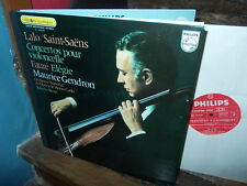LALO + SAINT-SAENS: Violoncello concertos > Gendron Benzi / Philips stereo VG+