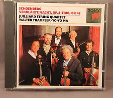 JUILLIARD STRING QUARTET Walter Trampler YO YO MA Schoenberg Verklärte Nacht CD
