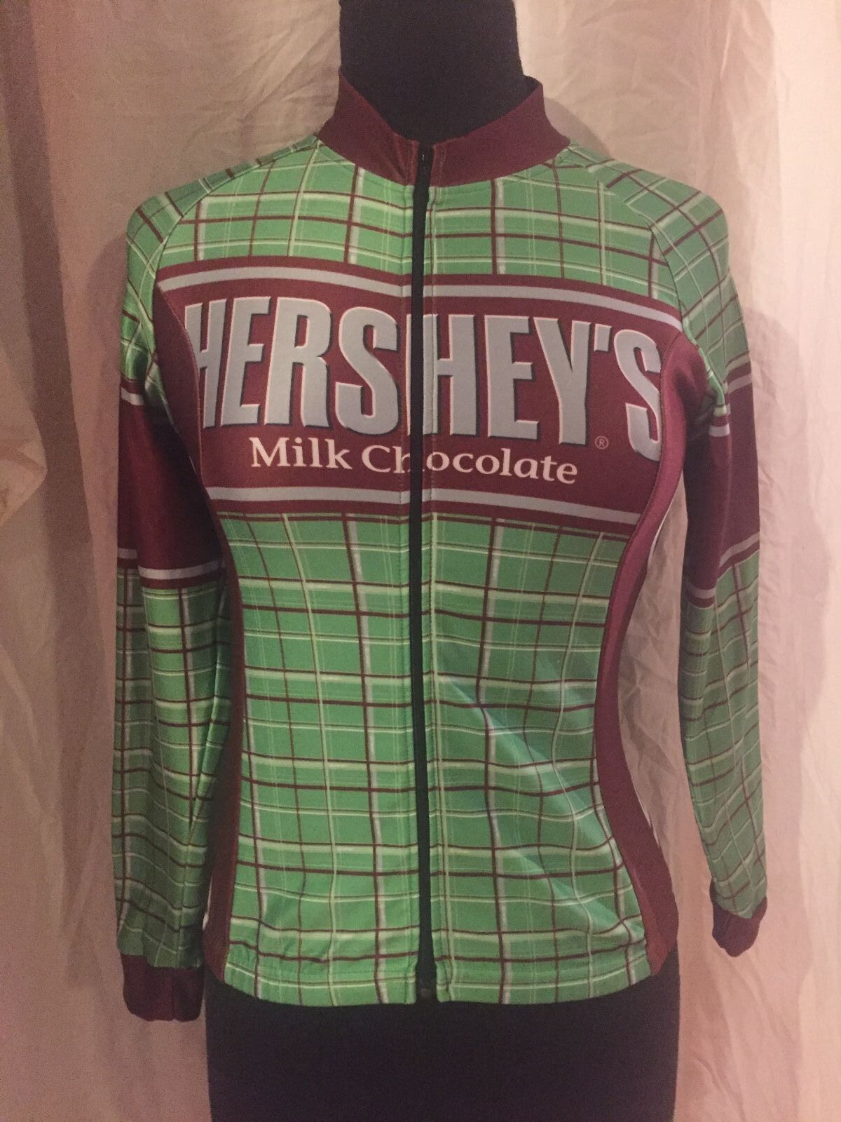 Canary Cycling Jersey Hershey's Milk Chocolate Fleece Lined Green Brown  Women S  preferential