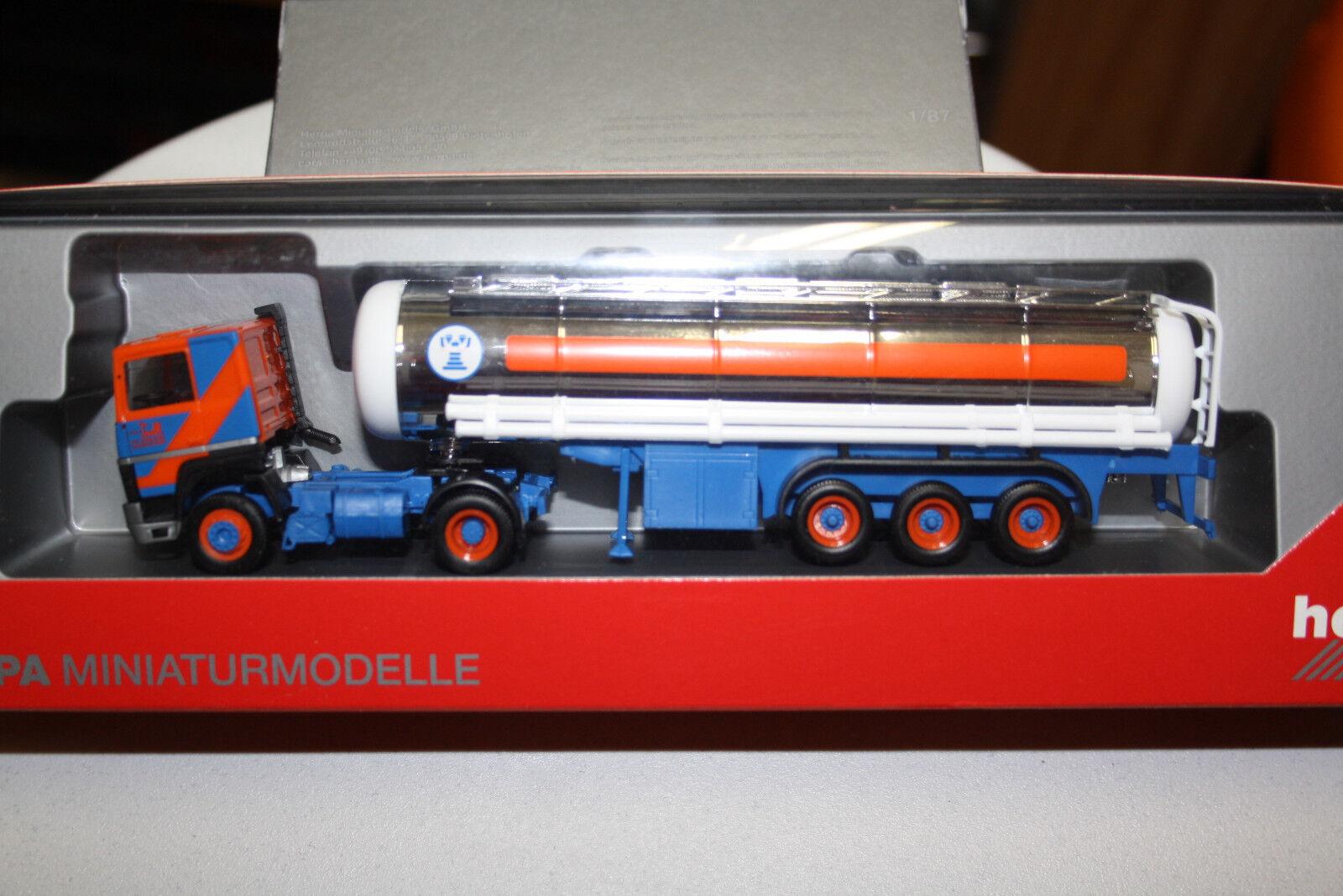 Herpa RENAULT R 310 Chromtank-Semi-remorque  Troll  (A) Nº 306812