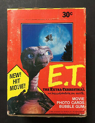 E.T The Extra-Terrestrial Topps Trading Cards Sealed Wax Pack