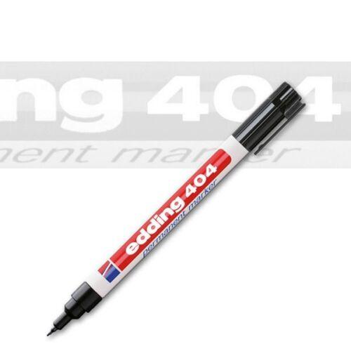 Edding 404-01 schwarz Permanentmarker mit Rundspitze 0,75 mm