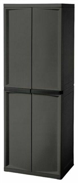 Sterilite 01423v01 4 Shelf Cabinet, Sterilite Garage Storage Cabinets