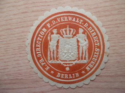 12784 Pr Steuern Berlin Duftendes Aroma Verwaltung D Direct Direction F.d K Siegelmarke