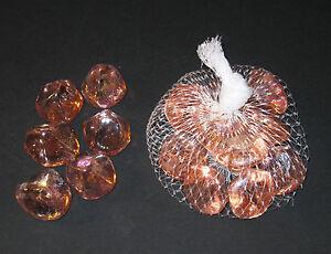 grosse-Glasnuggets-1-Beutel-lachsfarben-Glassteine-ca-200g-Dekosteine-NEU