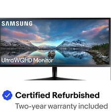 "Samsung LS34J552WQNXZA-RB 34"" 21:9 FreeSync LCD Monitor  Certified Refurbished"