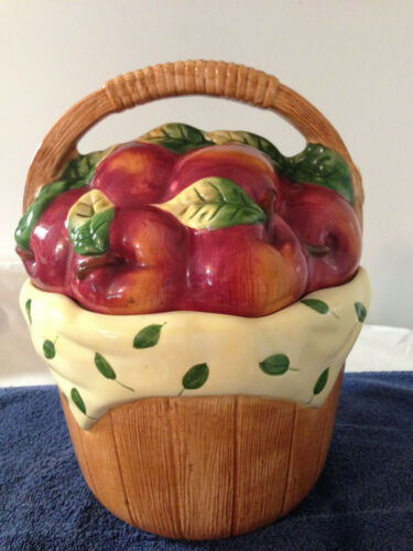 APPLE BASKET COOKIE JAR COOKS CLUB INC COUNTRY