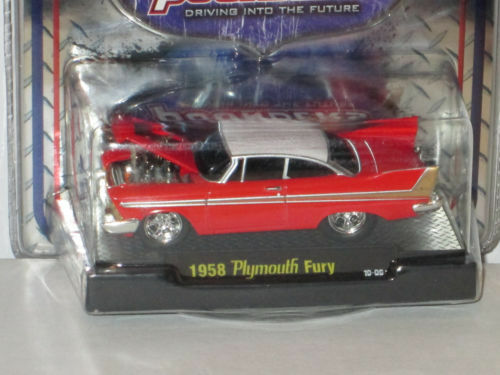 M87 81161 02 M2 MACHINES GROUND POUNDERS 1958 PLYMOUTH FURY  RED 1:64