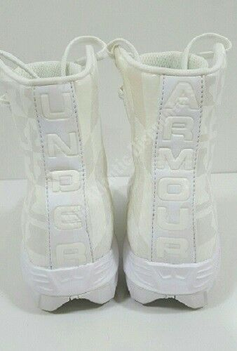 Under Armour UA Youth Highlight RM Jr Football Lacrosse LAX Cleats White//White