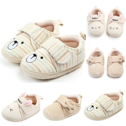 Newborn Baby Girls Boys Toddler Anti-slip Warm Slippers Soft Cotton Crib Shoes