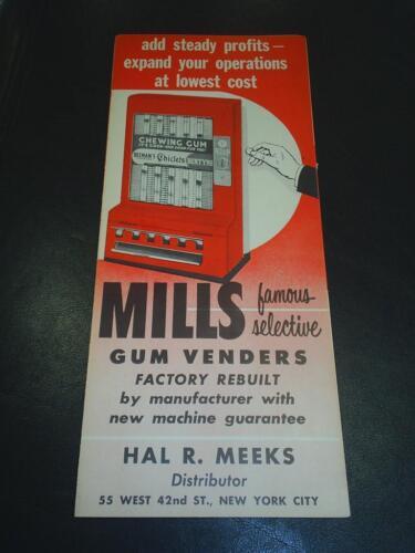 Mills Gum Venders ad sheets W@W Free shipping sheet #107-51