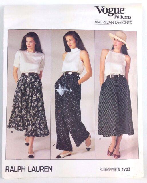 Vintage Vogue Patterns DESIGNER Ralph Lauren Uncut Factory Folded Delectable Vintage Vogue Patterns