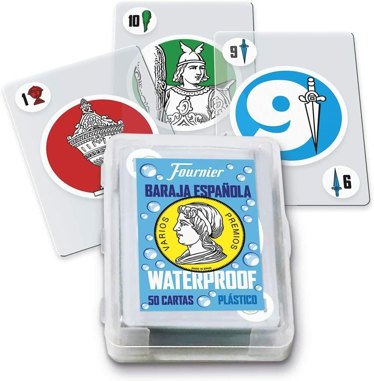 Fournier- Baraja Española de Cartas Waterproof de Plástico para Piscina y Playa