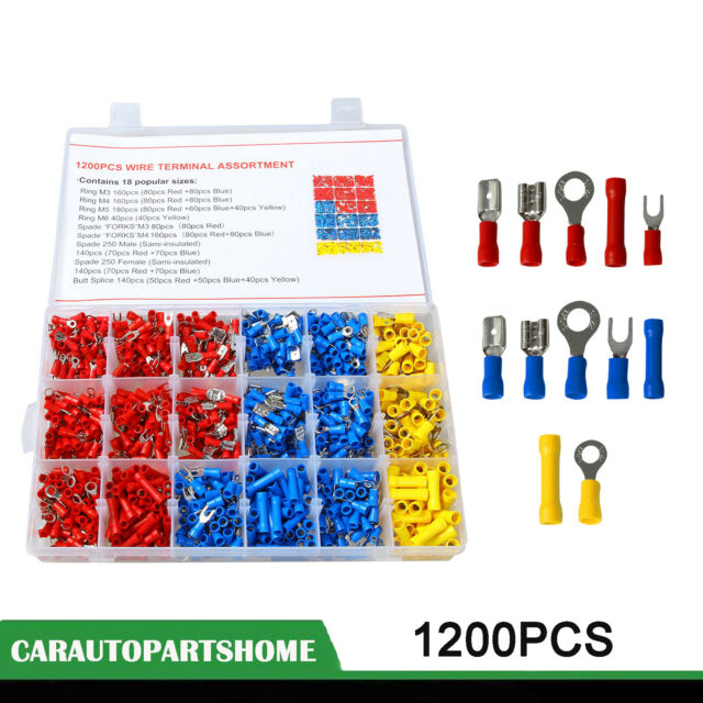 480PCS  Crimp Terminals Case Kit Insulated Assortment Electrical Wire Connector