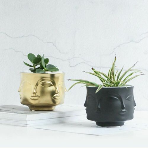 Man Face Flower Vase Home Decoration Accessories Modern Ceramic Vase Flowers Pot