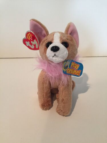 UNUSED CODE NEW 2.0 BEANIE BABY TY PICO the CHIHUAHUA DOG MINT TAGS