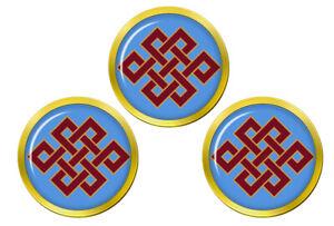 Sans-Fin-N-ud-de-Eternity-Bouddhisme-Marqueurs-de-Balles-de-Golf