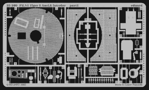 Eduard Accessories 35500-1:35 Sd.Kfz 181 Tiger I Detailbausatz Innen Frühe Ver