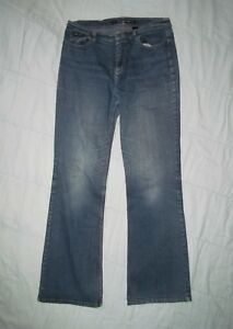 DKNY-JEANS-Women-039-s-12-R-12R-Blue-5-pocket-denim-Flared-Boot-Cut-Jeans-33-Waist