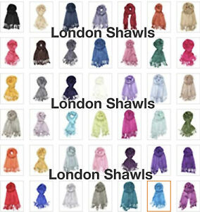 Handcrafted-Soft-Pashmina-Shawl-Wrap-Scarf-in-Solid-Colours-Factory-Clearance