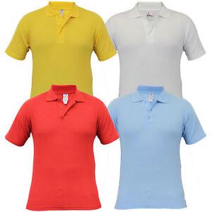 48d8a04a1 Boys 2 Pack Polo T Shirts School Uniform Pique Kids Children Summer ...