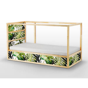 Ikea Kura Bed Removable Decal Self Adhesive Sticker For Furniture Tropical Leafs Ebay